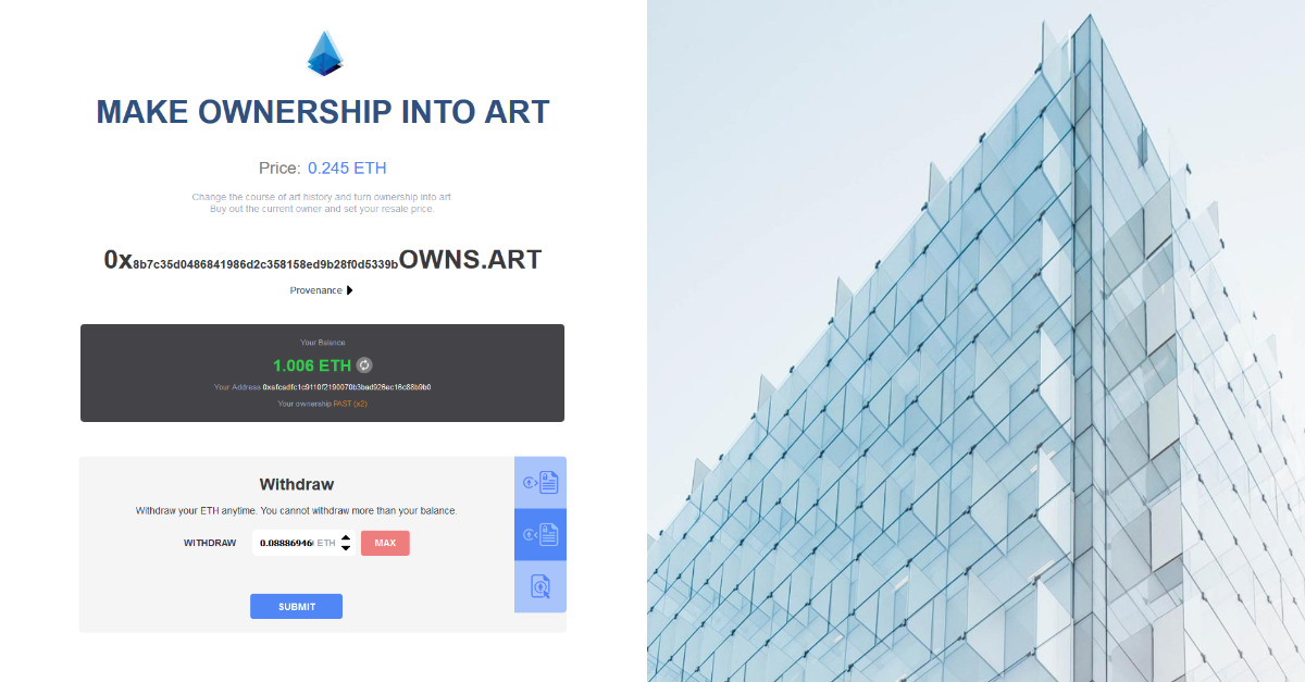 0xowns art - Ownership as art