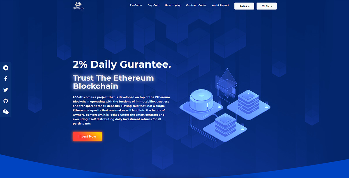 200eth - A trusted distribution project offering 2% daily