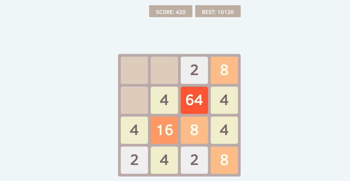 2048 - 2048 board game on blockstack.