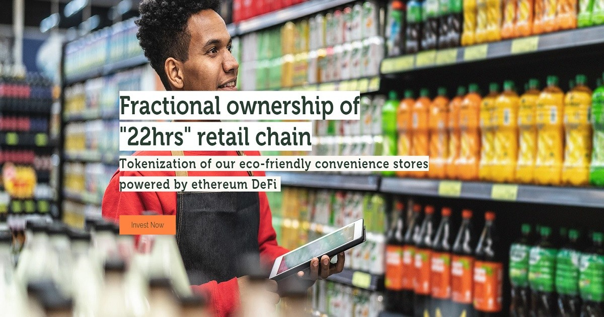 22hrs Retail DeFi - Decentralized Retail and Fractional Ownership