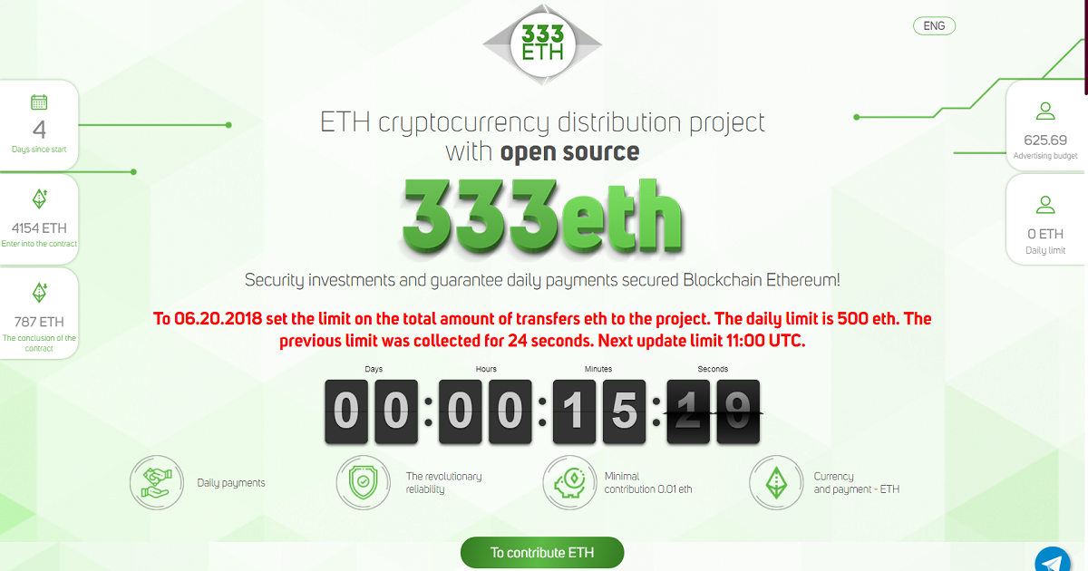 333 ETH - ETH distribution project