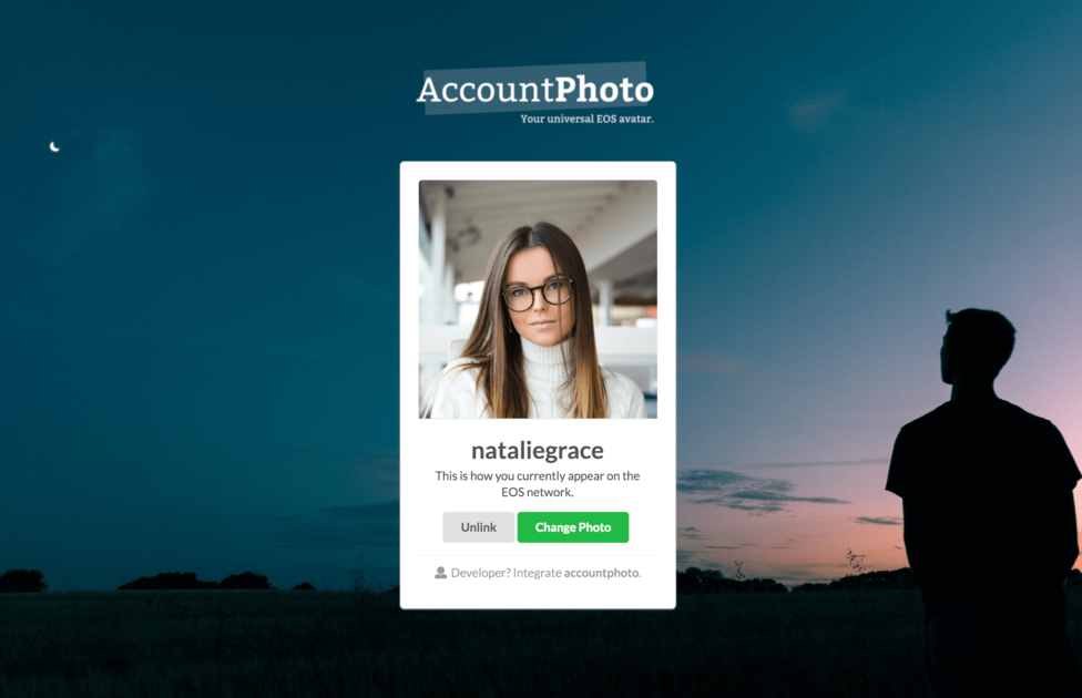 accountphoto - Universal EOS avatar for your account.