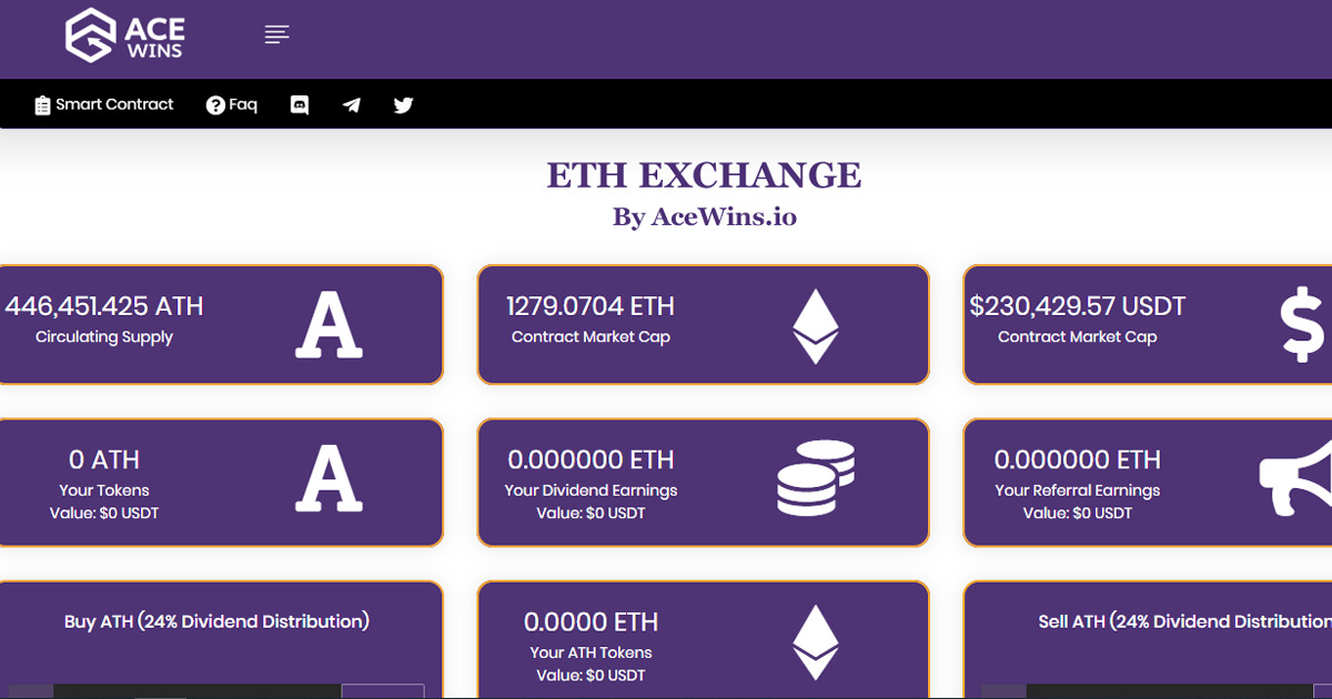 AceDapp - ETH Exchange by AceWins