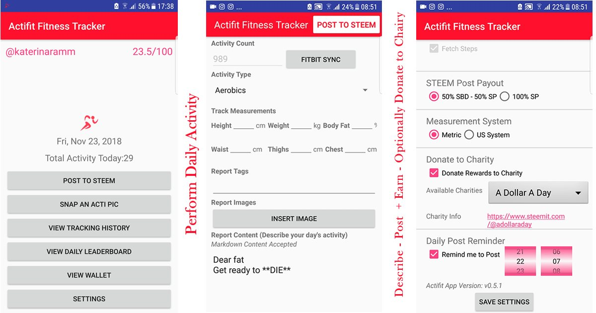 actifit fitness tracker rewarding your everyday activity