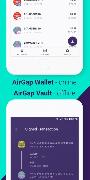 AirGap - Your old smartphone is your new 'hardware wallet'