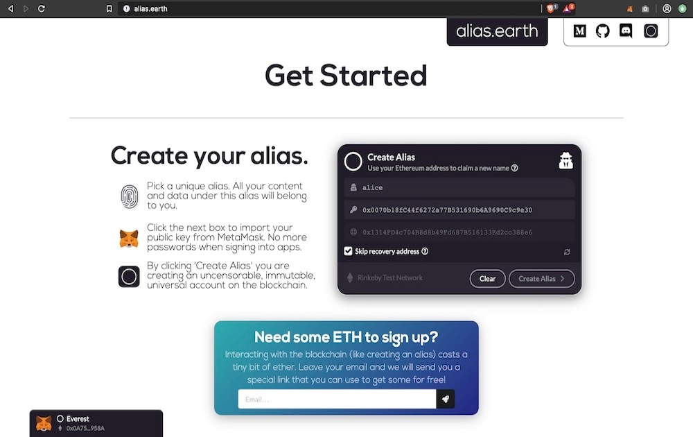 alias.earth - Open source identity platform
