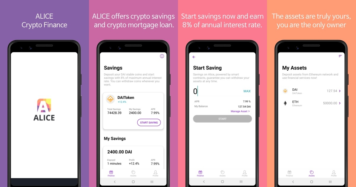 Alice Finance - Start saving DAI at 8% of annual interest rate
