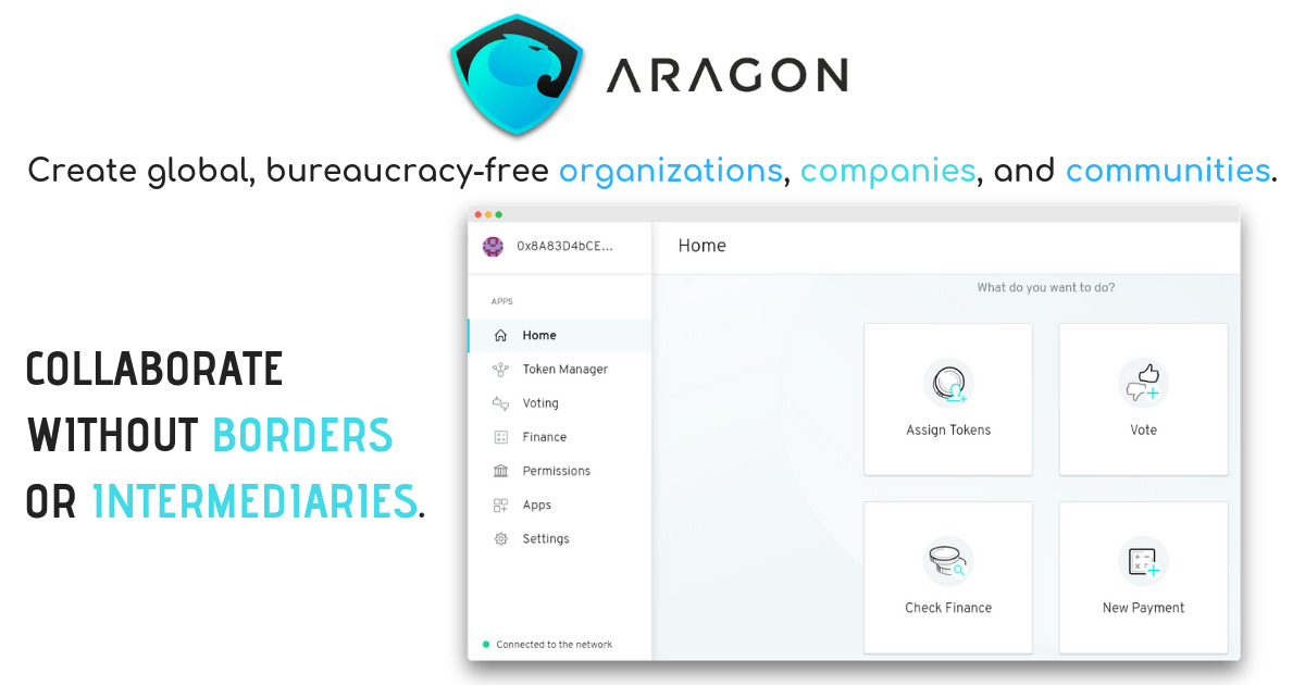 Aragon - Create and manage DAOs