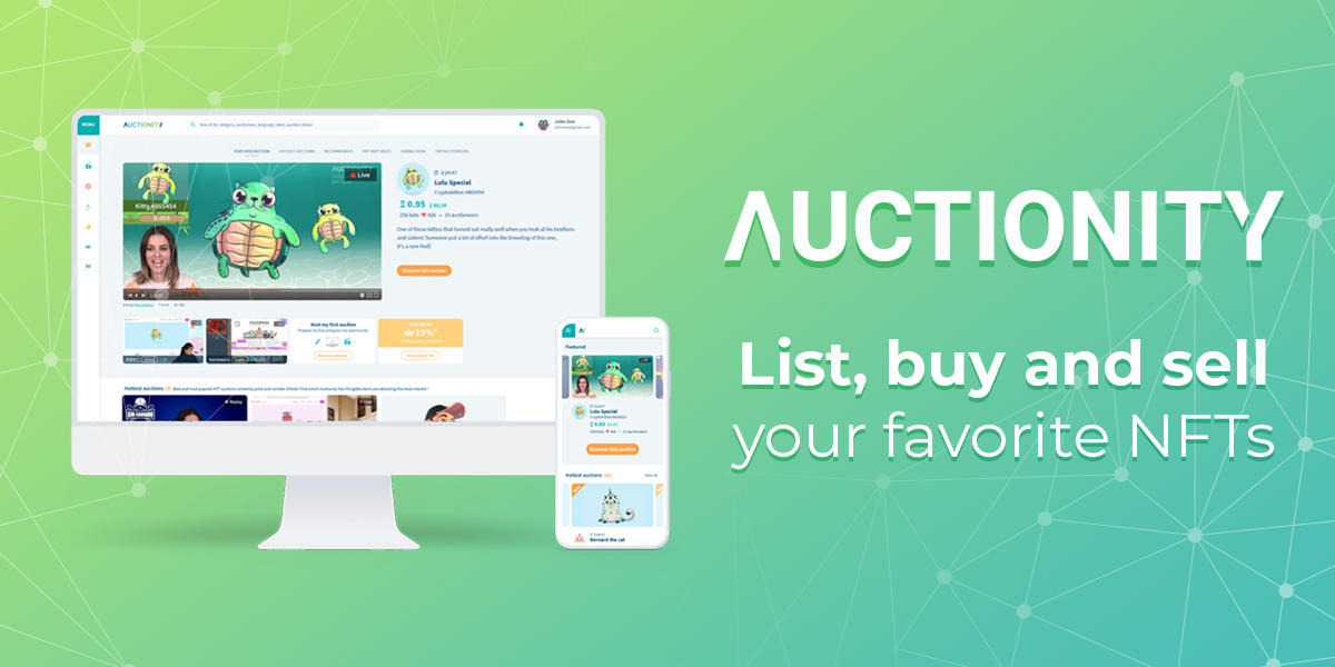 Auctionity - Platform auctioning NFT in ETH
