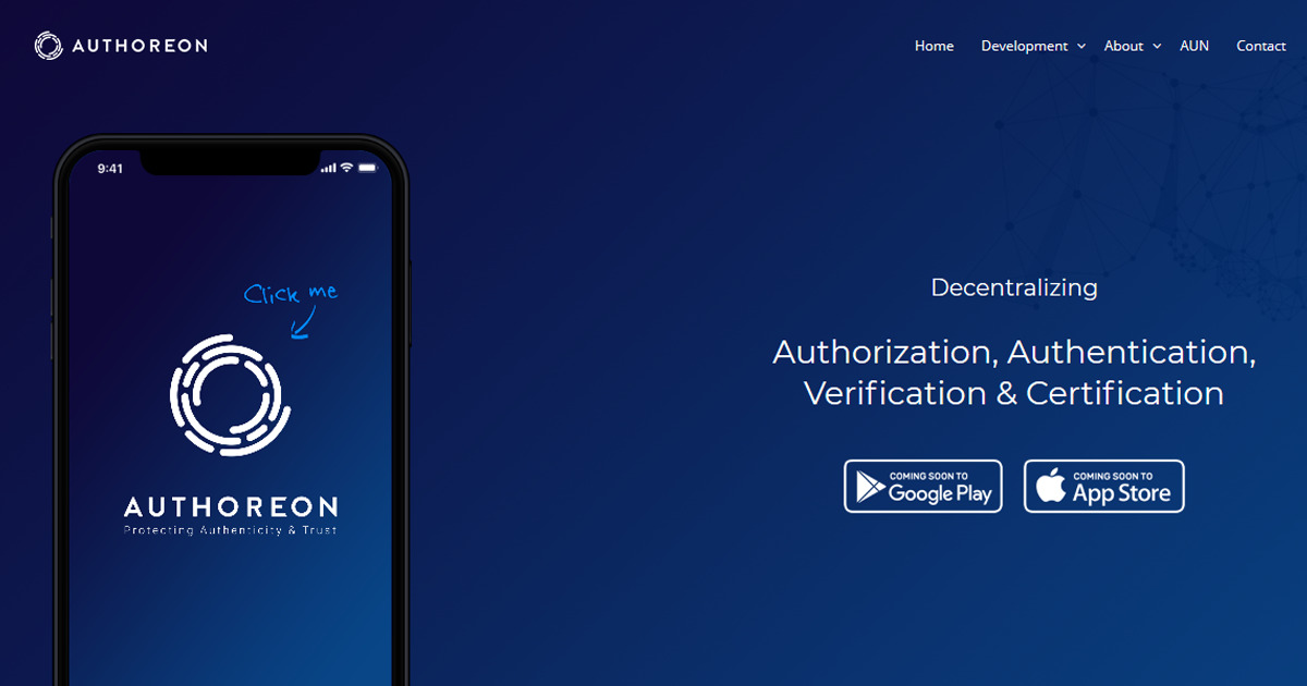 Authoreon - Protecting Authenticity & Trust