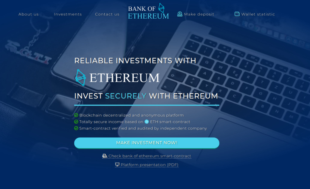 Bank of Ethereum - Secure. Reliable. Earn 200%. ETH Bank