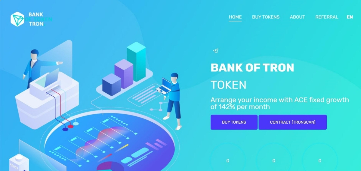 Bank of Token - Arrange your income with ACE fixed growth of 142%