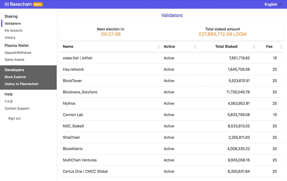 Basechain Staking - Dashboard for staking LOOM tokens
