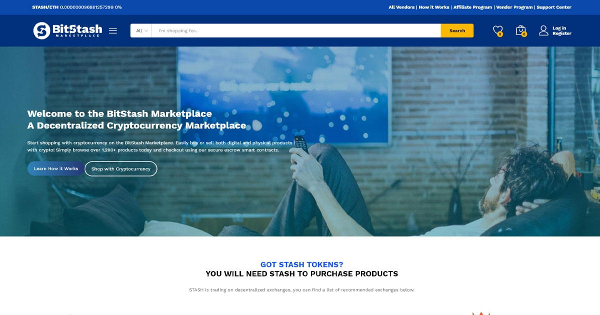 bitstash marketplace buy products with cryptocurrency
