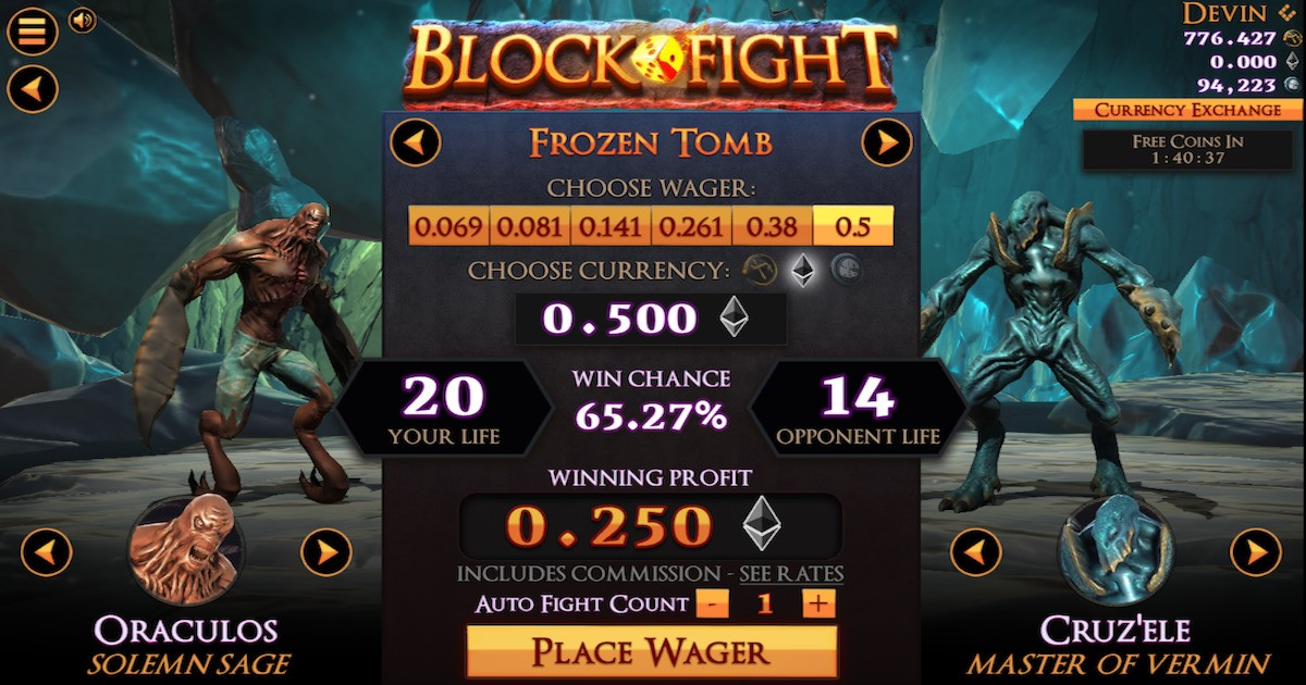 Blockfight - Fight, wager, and win!