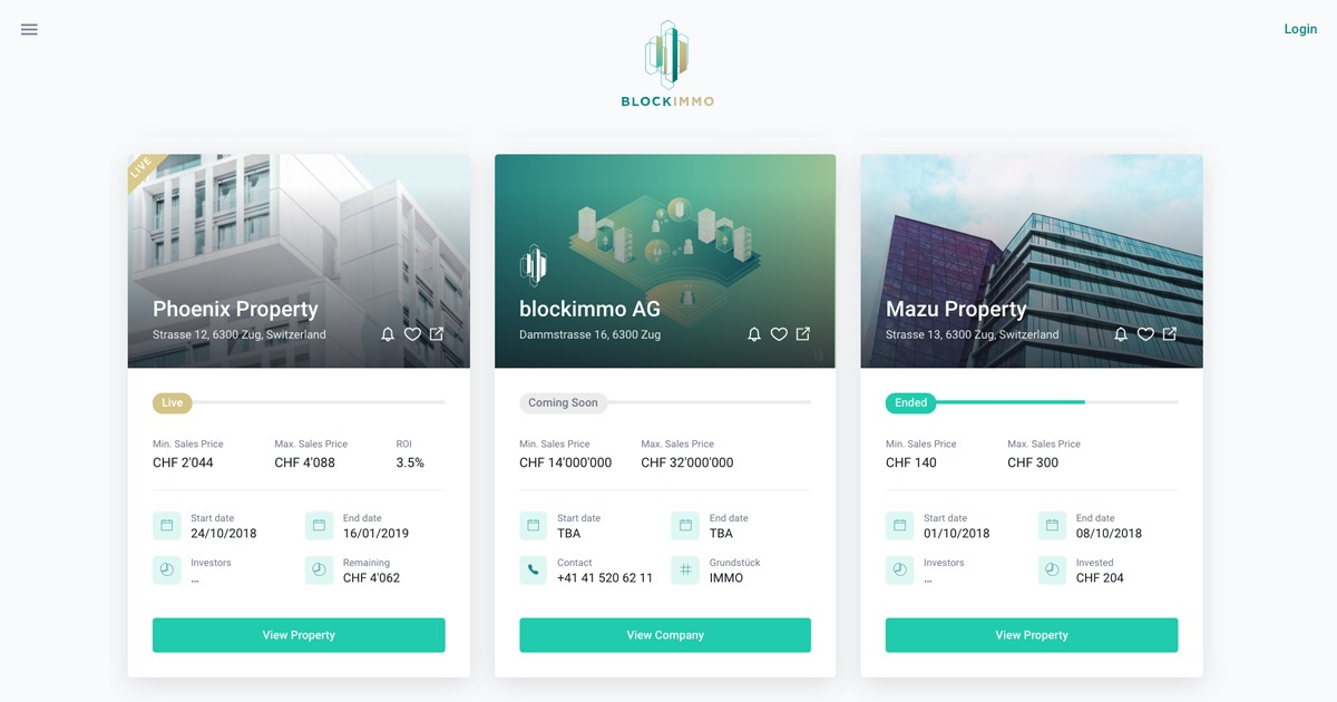 blockimmo - Accessible Real Estate market
