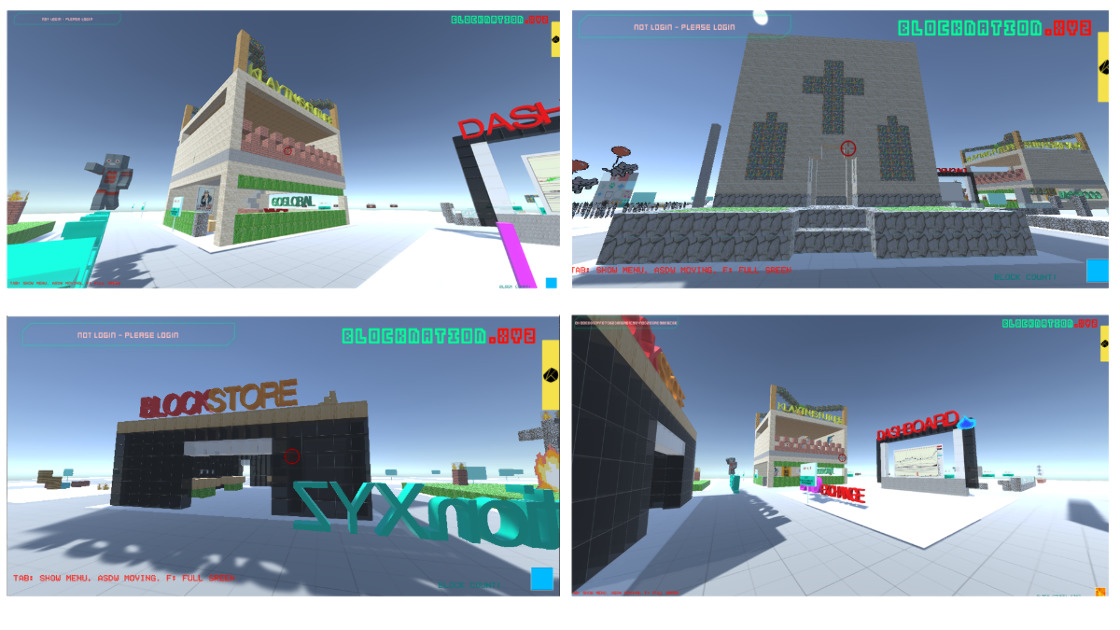 BlockNationXYZ - Minecraft style game world built with decentralize