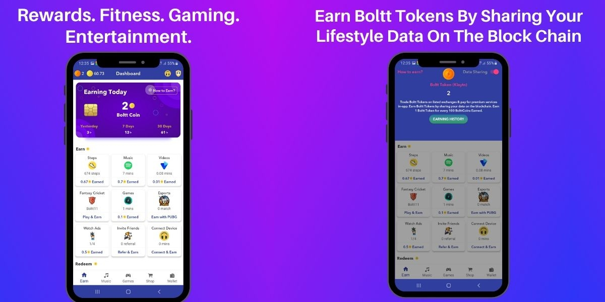 Boltt Coin - Entertainment, Fitness & Rewards Ecosystem