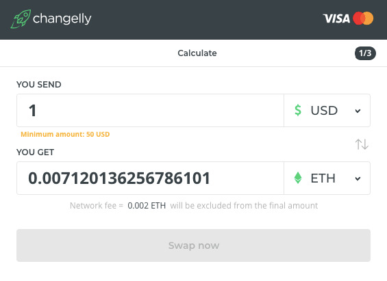 Changelly - Buy and convert 150 crypto assets instantly