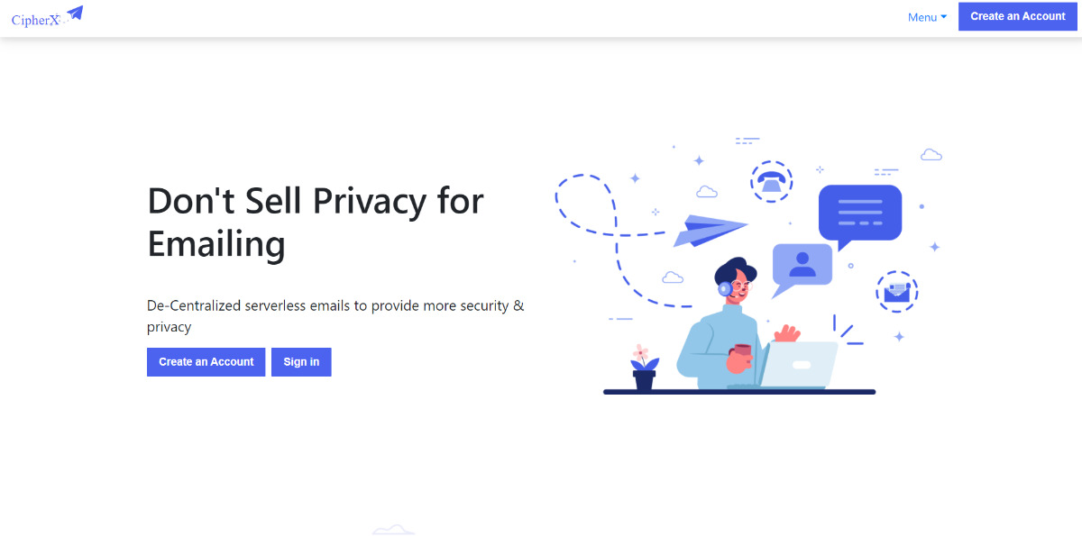 cipherx - Decentralized E-mail with privacy and security