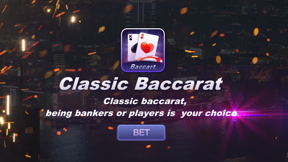 Classic Baccarat - Classic baccarat, being bankers or players is  you