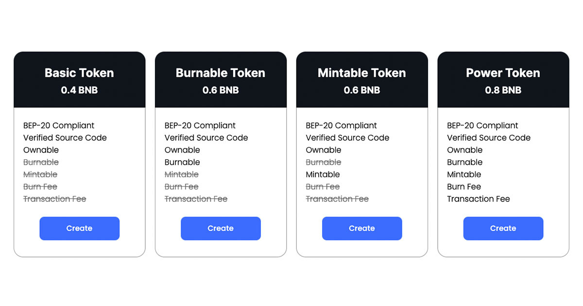 CoinManufactory - BSC - Create a BEP20 token without coding