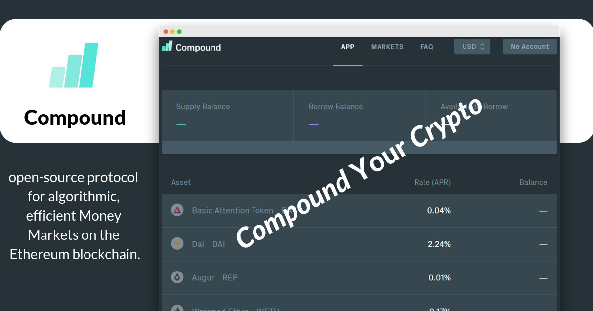 Compound - Algorithmic money markets