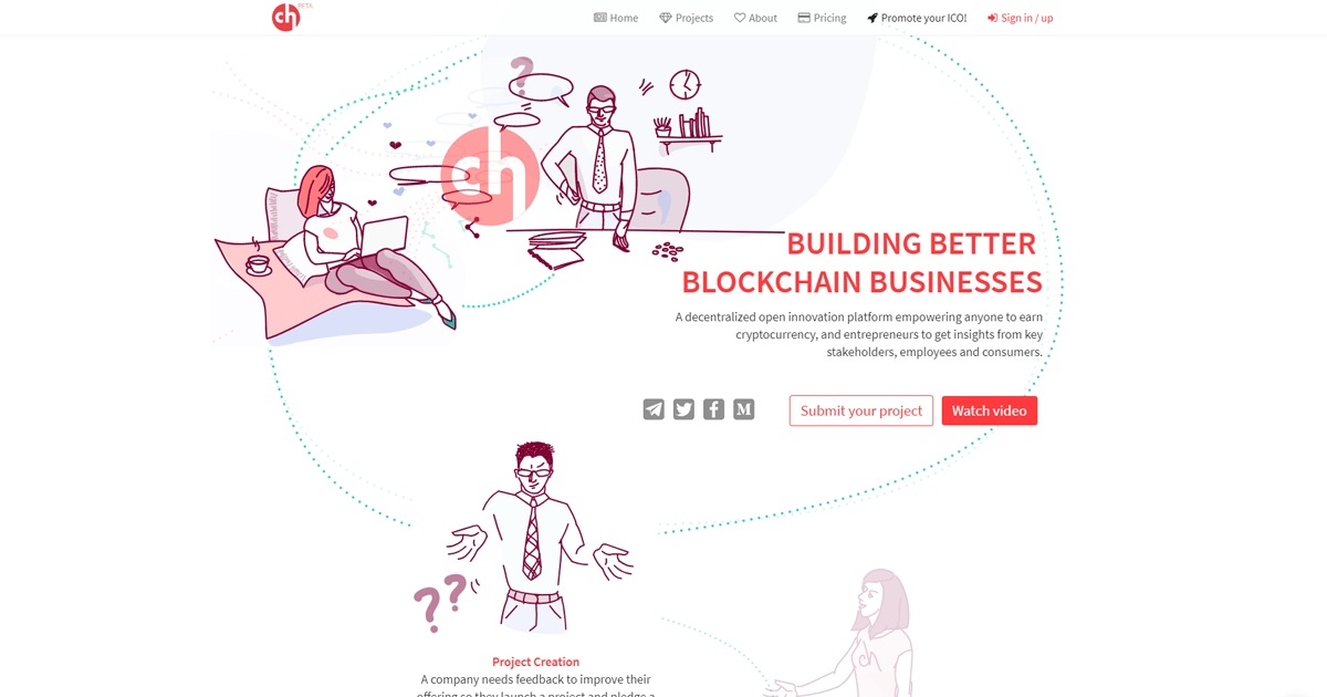 Crowdholding - Reward-based collaboration network