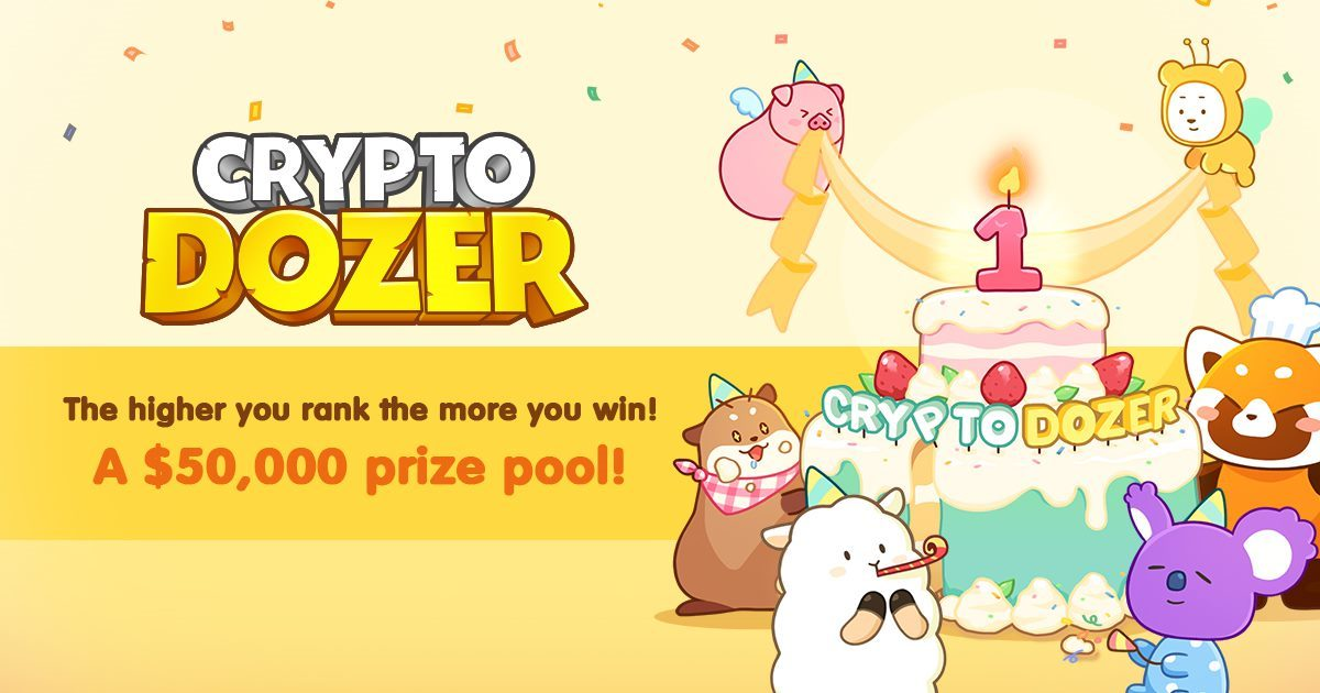 CryptoDozer - 1st Anniversary new PLAyer event!