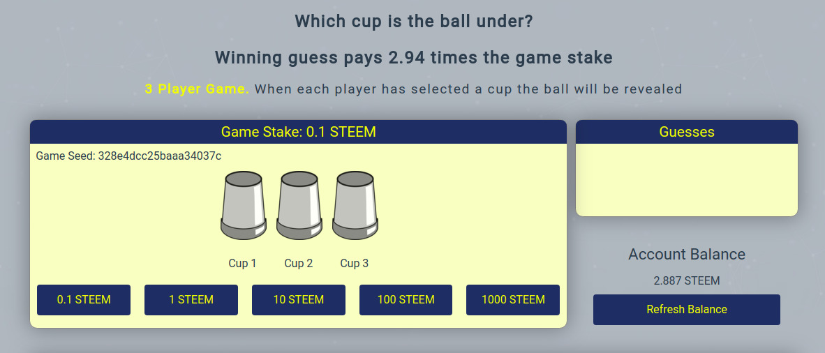cupz - Provably fair multiplayer game of chance