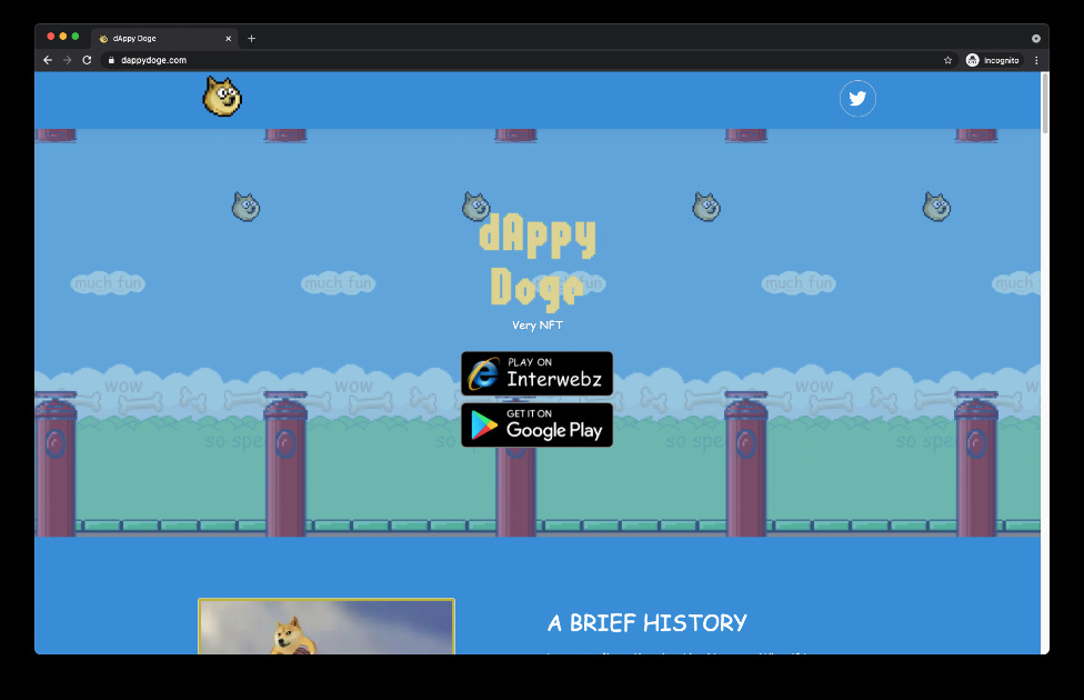 dAppy Doge - An endless jumping NFT game