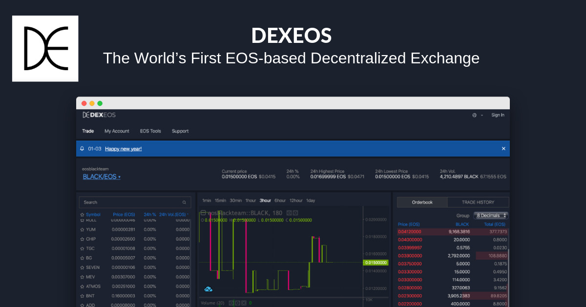 DEXEOS - EOS Decentralised Exchange