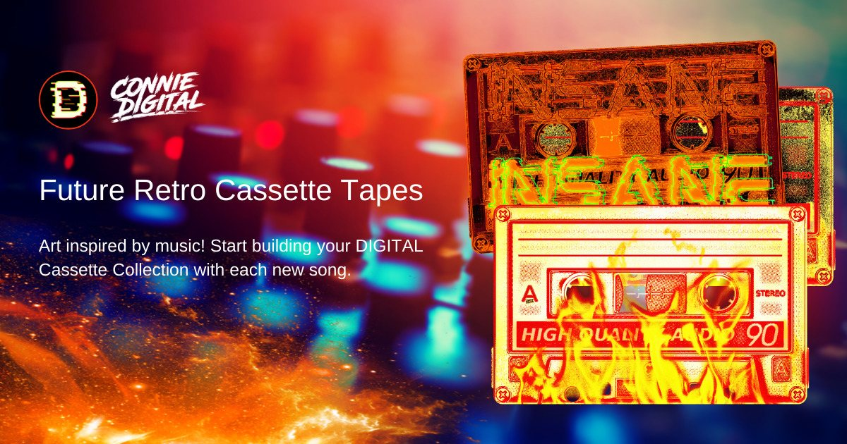 DIGITAL Collectibles - Special edition designer cassette tapes!