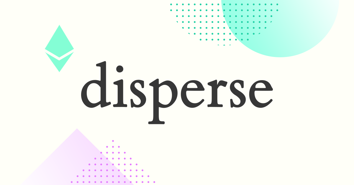 Disperse - Send ether and tokens in batches