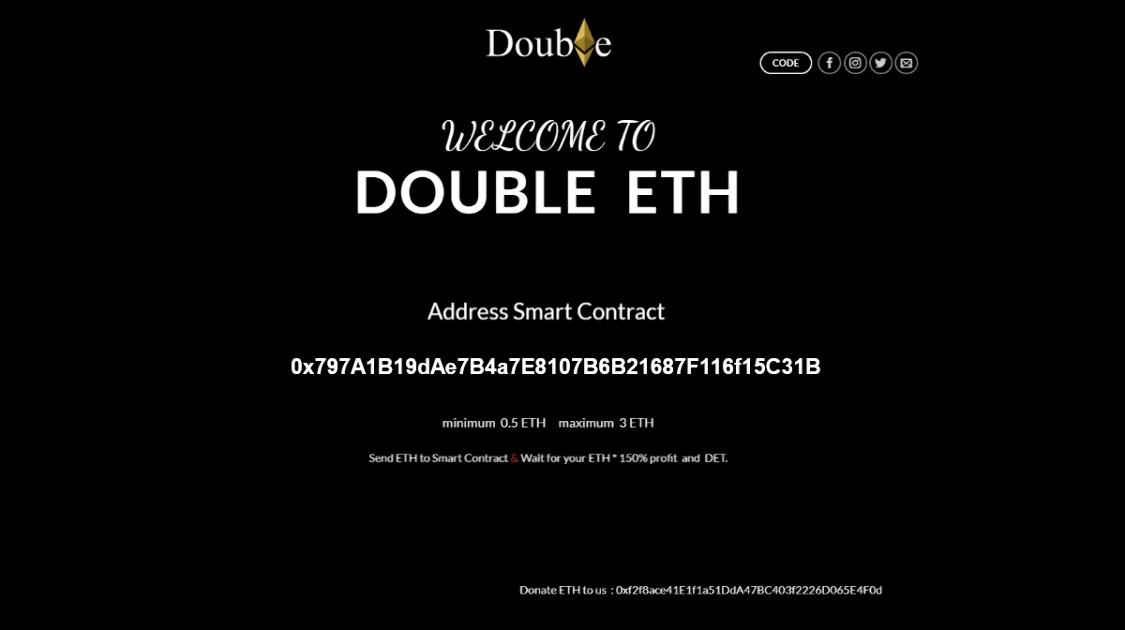 Double Ether - Get 150% ETH when you play