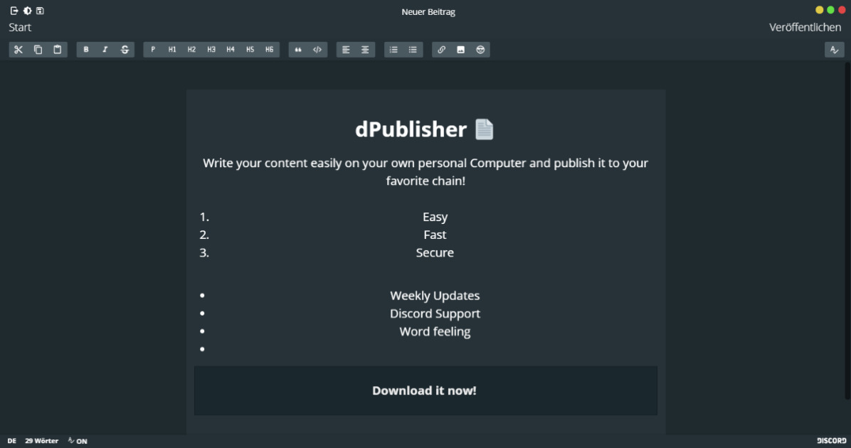 dPublisher - Write professional your content for STEEM & HIVE