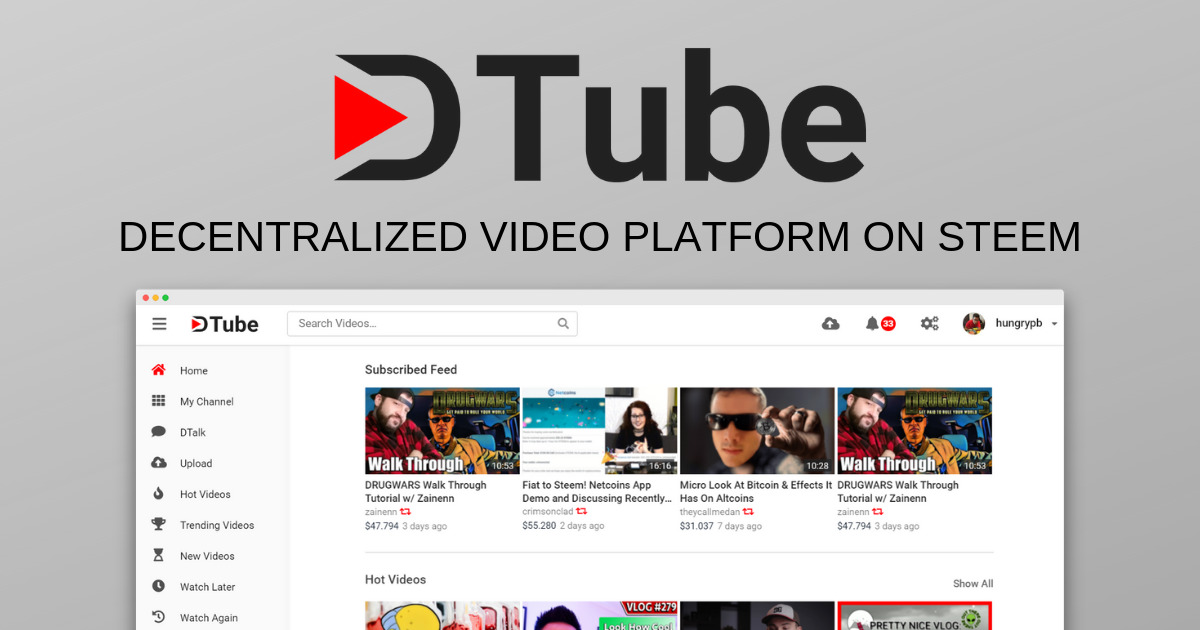 DTube - Video sharing with respect for its users