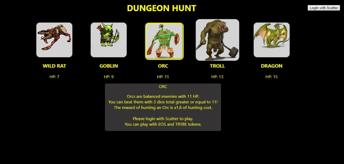 Dungeon Hunt - Dungeon Hunt game