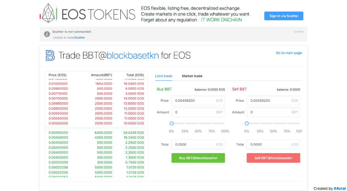 EOS Tokens - EOS flexible, listing free, onchain exchange.