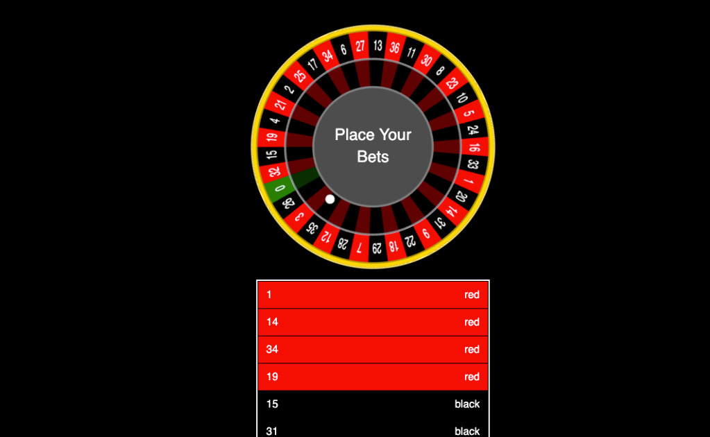 EthCasino Club - Only simple roulette game with no central server