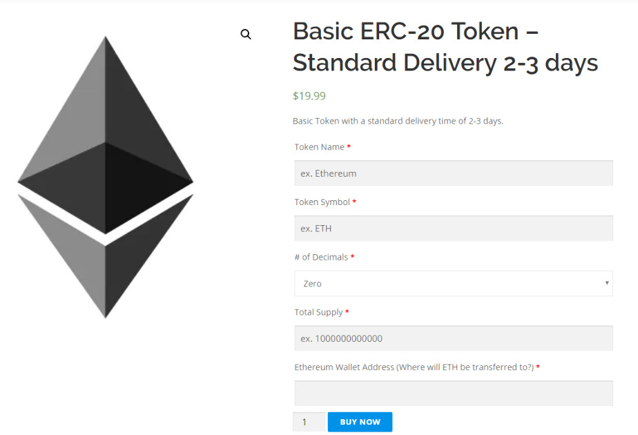 Ethereum Token Generator - Create your own Cryptocurrency