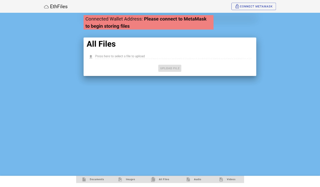EthFiles - Store Encrypted Files into Swarm