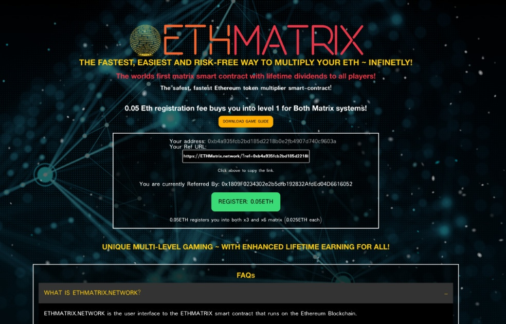 ETHMatrix - The Fastest, Easiest way to Multiply your ETH!