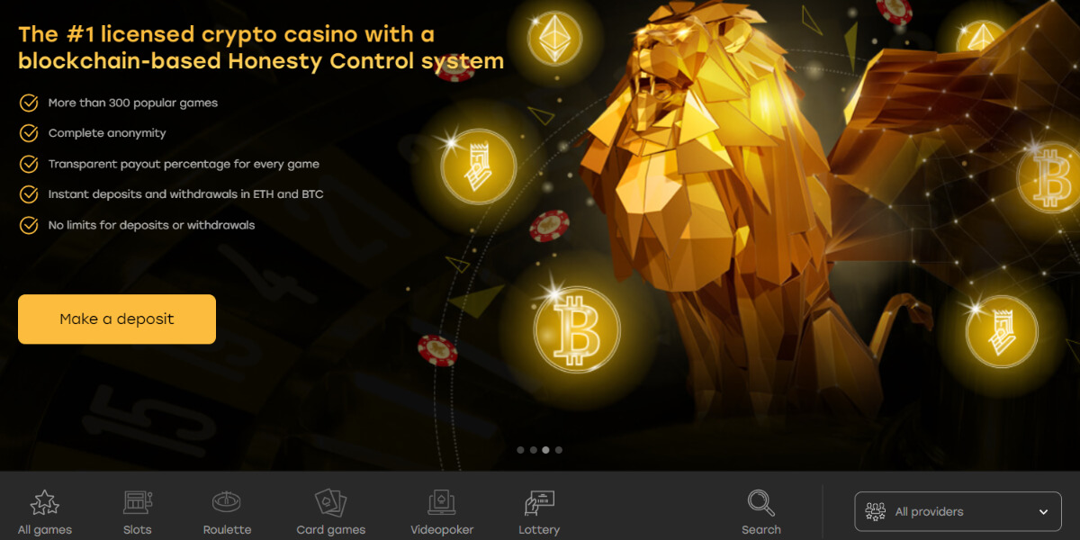 Fairspin - Licensed casino with provable gaming data