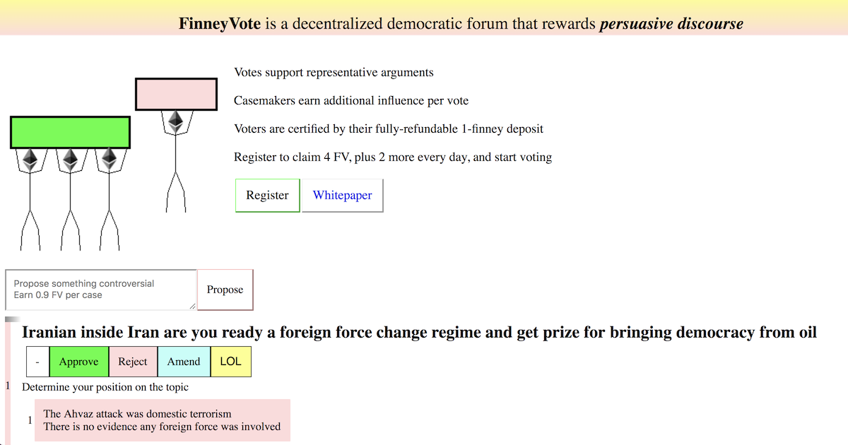 FinneyVote - A forum for controversy