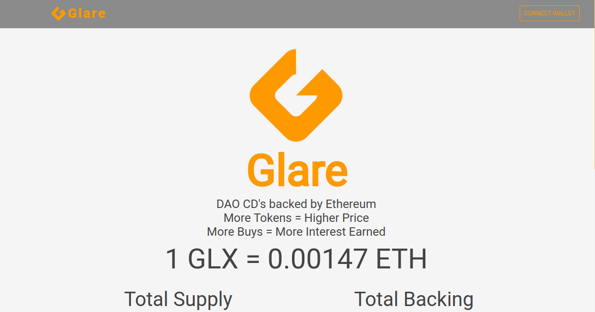 Glare - Fully Backed DAO CD's on Chain