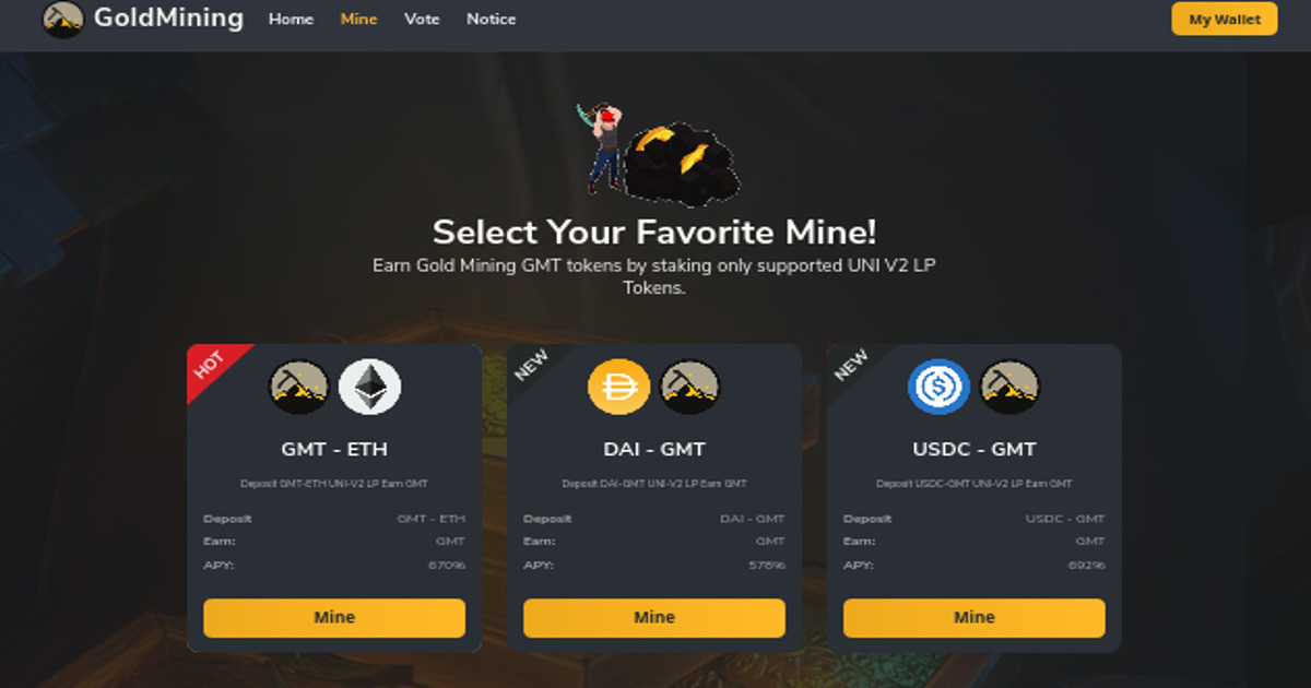 GoldMining Farm - Platform which generates potential income