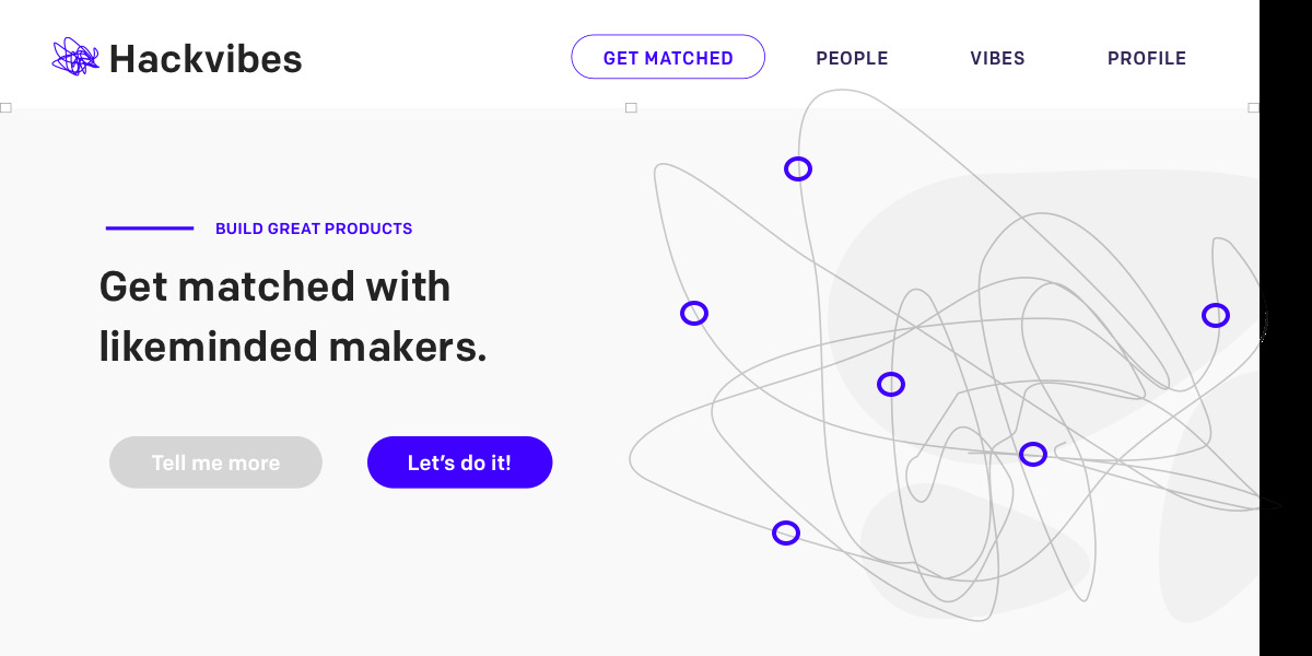Hackvibes - A matchmaking platform for makers and entrepreneur