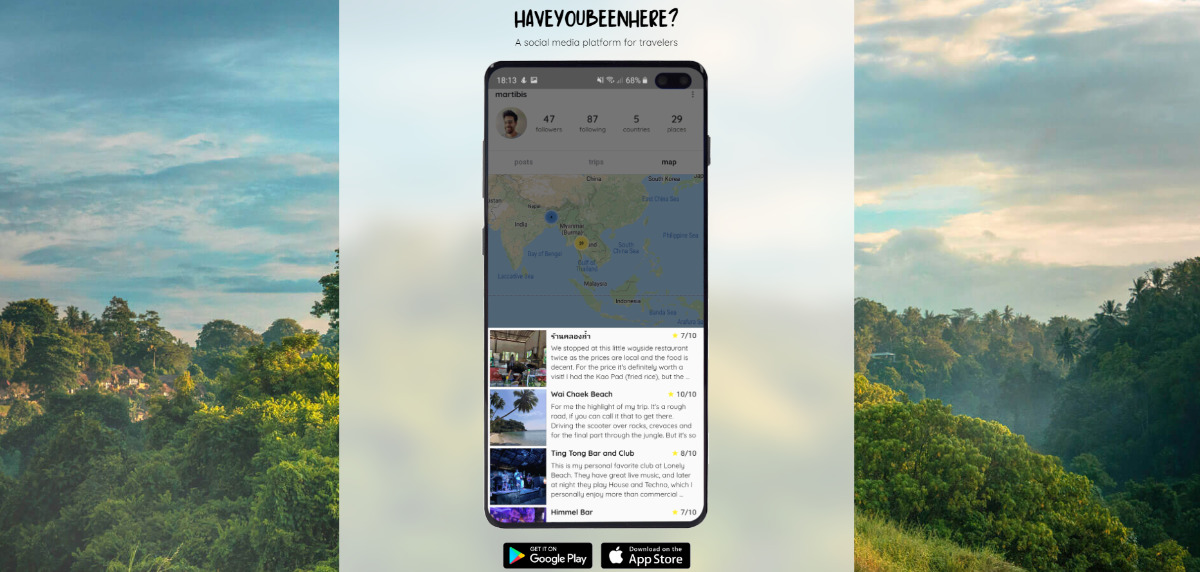 Haveyoubeenhere - The social media platform for travelers