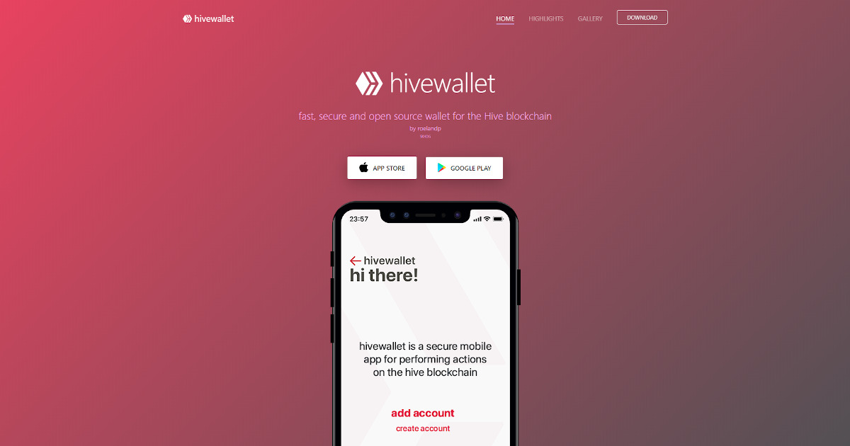 HiveWallet - Fast, secure and open source wallet for Hive